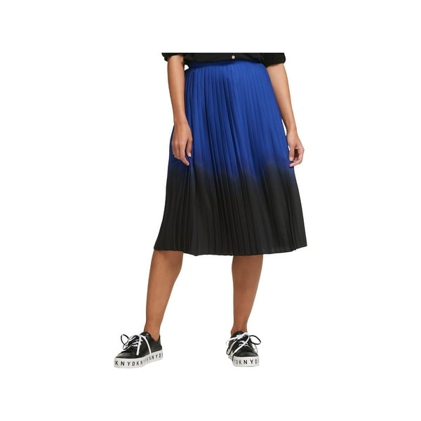 clear and distinctive finest fabrics select for genuine DKNY Womens Midi Skirt Pleated Ombre