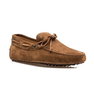 Tod's Men's Suede Driving Shoes Brown