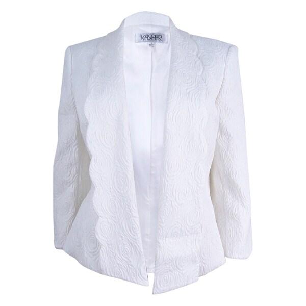 20a7698e83 Shop Kasper Women s Plus Size Jacquard Jacket (16W