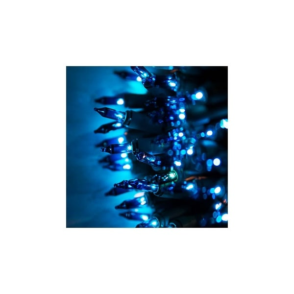 "Wintergreen Lighting 15186 17.5' Long Indoor Standard 35 Mini Light Holiday Light Strand with 6"" Spacing and Green Wire"