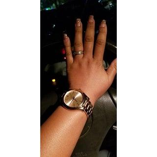 Michael Kors Women's MK3197 'Slim Runway' Rose Goldtone Watch