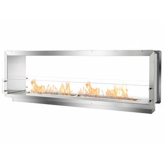 Ignis Development FB62D Double Sided Bio Ethanol Fireplace Insert, 78.5 in.