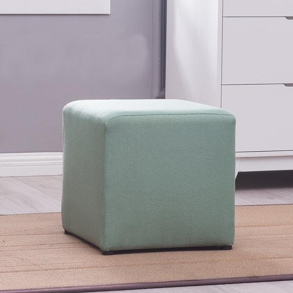 Shop Belleze Cube Ottoman Foot Stool Upholstered Multi