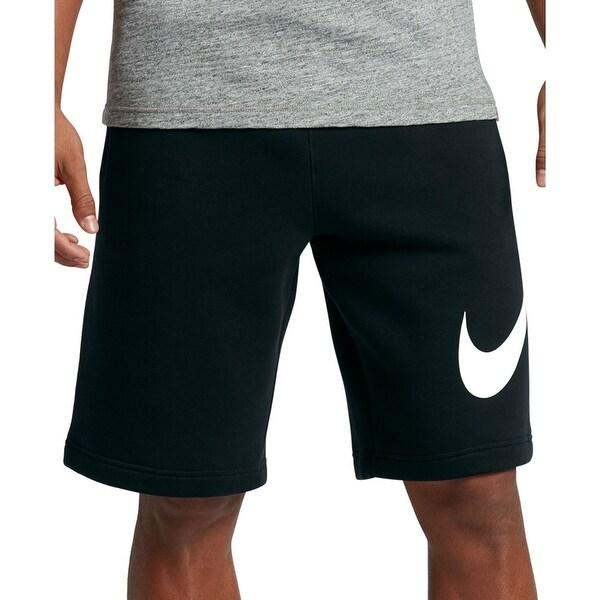 Nike Men's Fleece Sweat Shorts (Black, L) - Overstock - 30018708