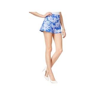 Guess Womens Joni Dress Shorts Floral Print High Waist - XL