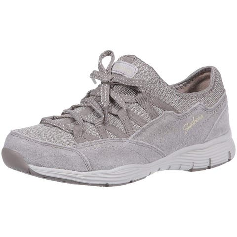 Skechers Womens Seager-Zip Line Fabric Low Top Lace Up Fashion Sneakers