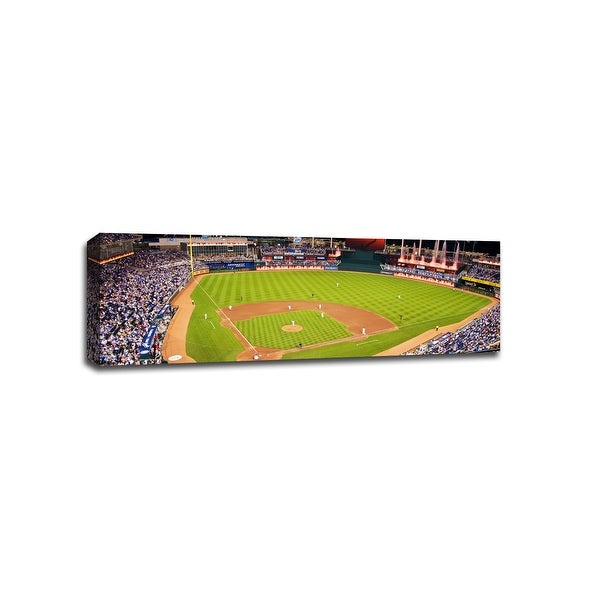 Kauffman Stadium - MLB - Baseball Field - 48x16 Gallery Wrapped Canvas Wall Art
