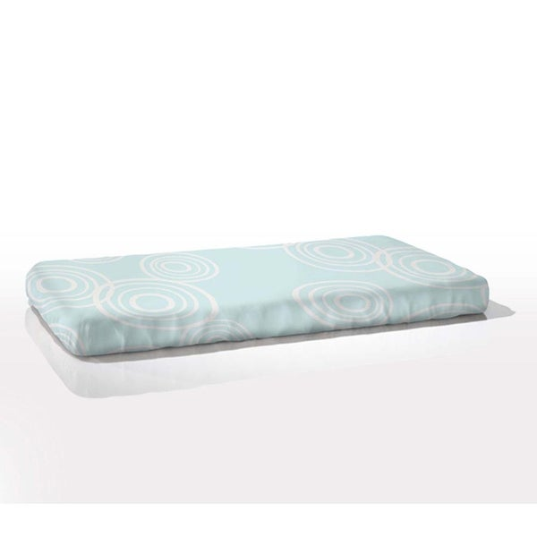 Nook Fitted Crib Sheet in Blue