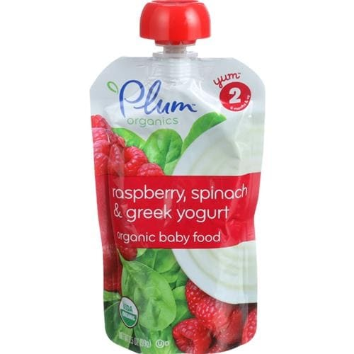 Plum Organics - Raspberry, Spinach & Yogurt Baby Food ( 6 - 3.5 OZ)