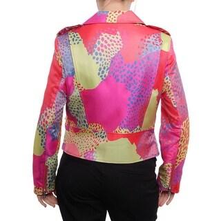 Anne Klein Epaulet Belted Zipper Jacket Basic Jacket Sunset Combo