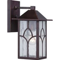 """Nuvo Lighting 60/5641 Stanton 1-Light 11-5/8"""" Tall Outdoor Wall Sconce with Seedy Glass Shade - Claret Bronze - N/A"""