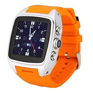 TechComm X01 Android 4GB Water-resistant Smart Watch with Wi-Fi, GPS (Option: Orange)