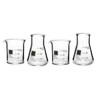 Set Of 4 Laboratory Shot Glasses - 1.5 Ounce - Periodic Glassware Beaker Collection