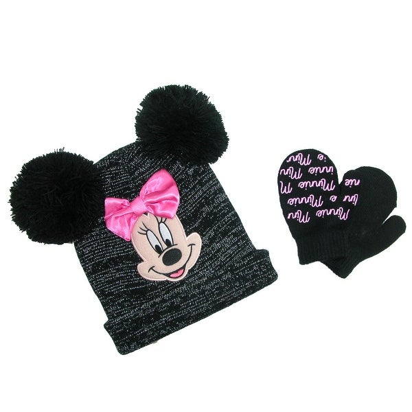 c502e7508a1 Shop Disney Infant   Toddler s Minnie Mouse Hat and Mitten Winter Set -  Free Shipping On Orders Over  45 - Overstock - 17904751
