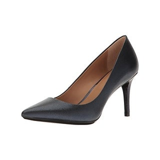 Calvin Klein Womens Gayle Pumps Leather Pointed Toe