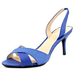 Calvin Klein Lucette Open Toe Leather Sandals