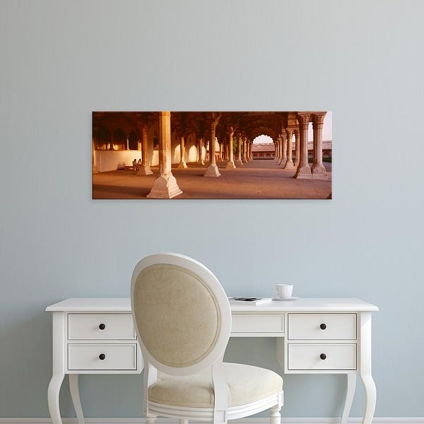 Easy Art Prints Panoramic Images's 'Interiors of a fort, Agra Fort, Agra, Uttar Pradesh, India' Premium Canvas Art