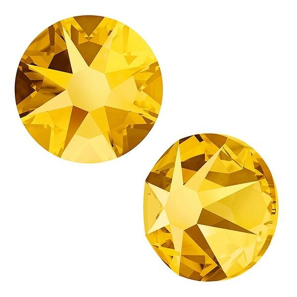 Swarovski Elements Crystal, Round Flatback Rhinestone SS30 6.5mm, 25 Pieces, Crystal Metallic Sunshine F