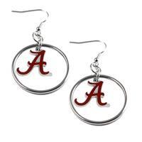 Alabama Crimson Tide Hoop Logo Earring Set NCAA Charm