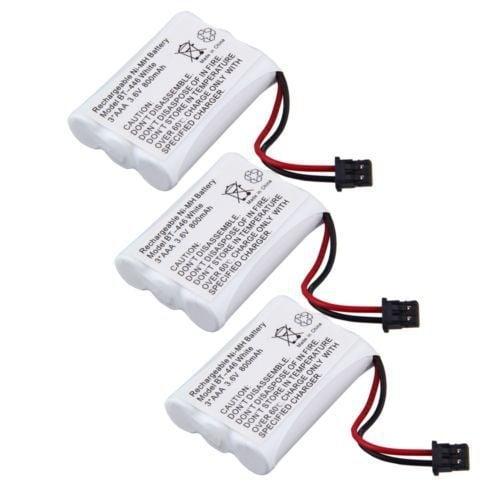 Replacement BT446 Battery for Uniden 5.8GHz TRU8866 / TRU9485-2 / TCX950 Phone Models (3 Pack)