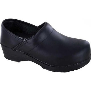 White Mountain Women's Daryn Clog Black Leather