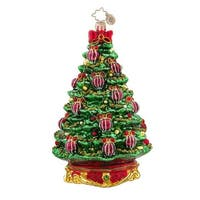 Christopher Radko Glass Noble Fir Christmas Tree Ornament #1017566 - green