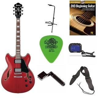 Ibanez AS73 AS Artcore Semi-Hollow Body Electric Guitar Bundle