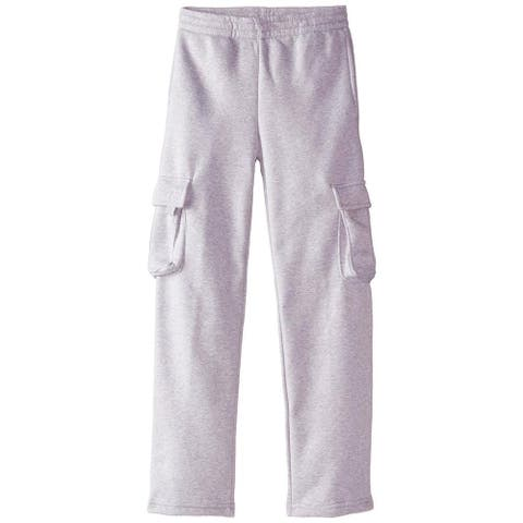 U.S. Polo Association Boys 4-7 Cargo Fleece Pant - Light Grey