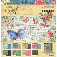 "Graphic 45 Collection Pack 12""X12""-Flutter"
