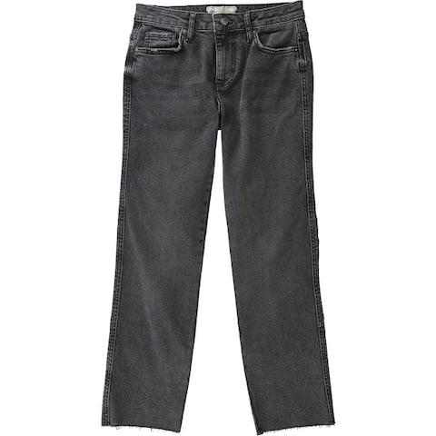 Free People Womens Clean Girlfriend Straight Leg Jeans