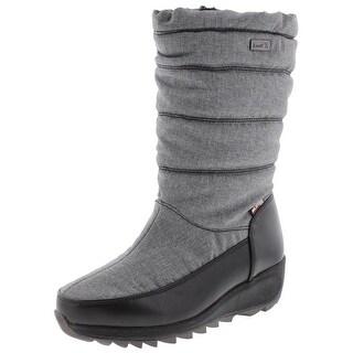 Kamik Womens Detroit Snow Boots Faux Fur Waterproof