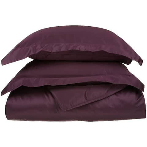 Superior Anemone 650-Thread Count Egyptian Cotton Solid Duvet Cover