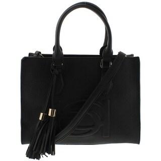Bebe Womens Poppy Shopper Handbag Faux Leather Embossed - Medium