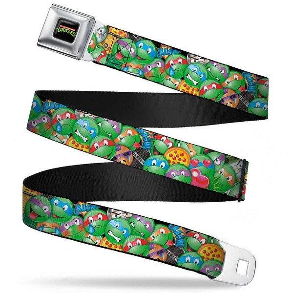 Classic Tmnt Logo Full Color Classic Tmnt Turtle Expressions Pizza Turtle Seatbelt Belt