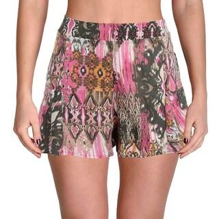 Elan Womens Casual Shorts Woven Printed