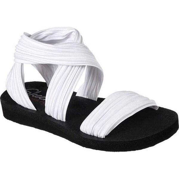 b9a3e936b98b Shop Skechers Women s Meditation Still Sky Ankle Strap Sandal White ...