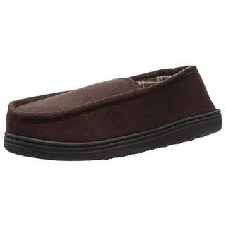 Perry Ellis Portfolio Mens Moccasin Slippers Microsuede Fleece Lined