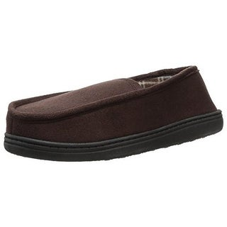 Perry Ellis Portfolio Mens Microsuede Fleece Lined Moccasin Slippers