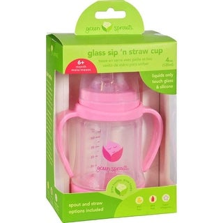 Green Sprouts Cup, Green Sprouts Cup Sip N Straw Glass 6 Months Plus Pink - 1 Count