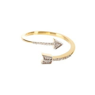 14K Gold Arrow Diamond Ring