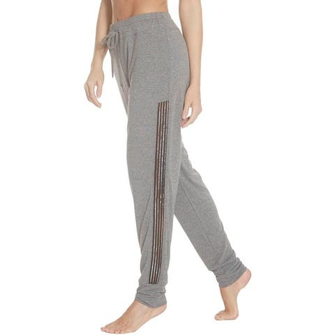 Splendid Women's Marled Striped Trim Loose Fit Activewear Jogger Pants