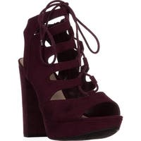 B35 Nelly Platform Gladiator Sandals, Wine