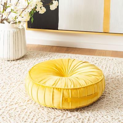 SAFAVIEH Clary Tufted Velvet Round Floor Pillow