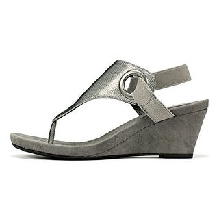 White Mountain Womens Aida Fabric Open Toe Casual Platform Sandals