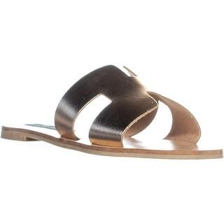 STEVEN Steve Madden Greece Flats Sandals, Rose Gold