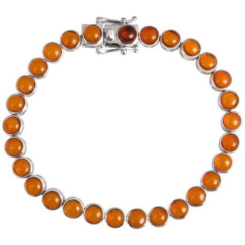 925 Sterling Silver Baltic Amber Bracelet