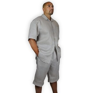 TWO PIECE LINEN SET (SHIRT AND SHORTS)