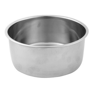 Outdoor Camping Picnic BBQ Stainless Steel Oil Soy Sauce Bowl Holder Silver Tone