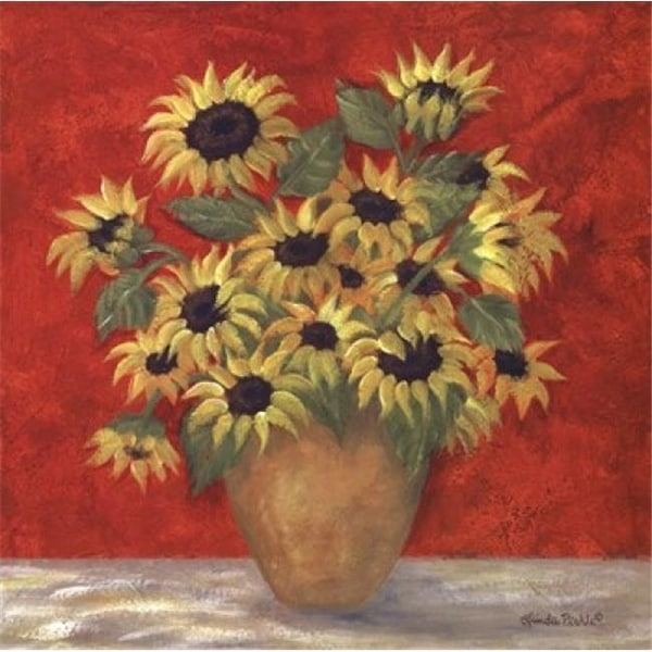 Shop Yellow Sunflowers In French Vase Poster Print By Linda Pirkle