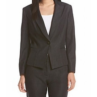 Nine West NEW Dark Blue Women's Size 2 Single Button Denim Blazer